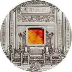6349 Palau 10 $ 2015 Prata 2 oz Ø50 mm - sére Arte Mineral VII - Cidade Proibida de Pequim
