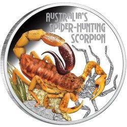 6352 Tuvalu 1 $ 2014 Prata Proof 1 oz - Escorpião Australiano Isometroides vescus