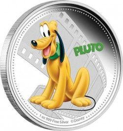 6358 Niue 2$ 2014 Prata Proof Série Personagens Disney : Pluto