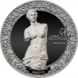 6449 Palau 10$ 2017 prata 2oz Esculturas Eternas - Venus de Milo