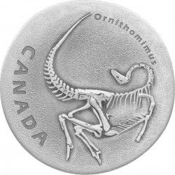 6460 Canadá 20$ 2017 prata antique finish Dinossauro ORNITOMOMUSTIA