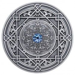 6495 Fiji 10 $ 2018 Prata 999 Ø50mm  93gr Antique Finish - MANDALA ART IV -  MORESQUE 500 Exemplares