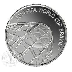 6221 Israel $2  2013 Prata Proof Copa do Mundo 2014 Apenas 2800 no Mundo!!