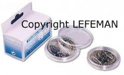 CAPS22# Capsula acrilicas p/ moeda até Ø22mm LEUCHTURM (Importada)
