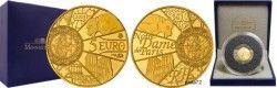 6154 França 5 euros 2013 Ouro Proof 1/2 g UNESCO - 850 anos de Notre Dame de Paris