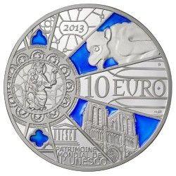 6152 #França 10 Euros 2013 Prata Proof UNESCO - Aniversário 850 Anos Notre Dame de Paris