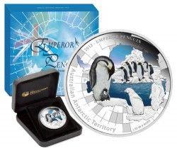 6194 Australia 1 Dollar 2012  Prata Proof  Pinguim Imperador
