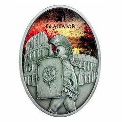 6191 Fiji 10 Dolares 2013 Prata Antique-finish - Os Gladiadores: Provocador