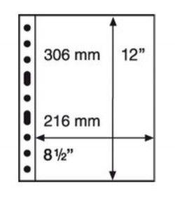 GRANDE 1C - Folhas sistema GRANDE (Fundo transparente) Formato 240x312mm. Pacote de 5 unidades