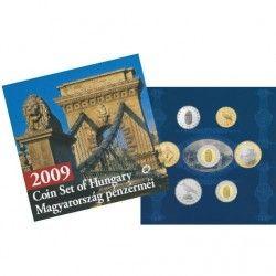 6219 Hungria 2009 Mint set especial com 6 moedas FC Série completa!