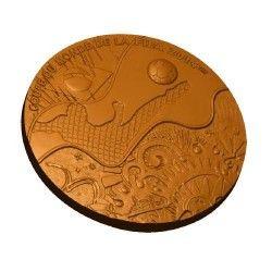 6257 França 2014 Medalha de Bronze Copa do Mundo 2014 Enorme 81mm Apenas 500 no mundo!!