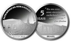 6121#  5 Reais Prata 40mm GOIAS - Patrimônio da humanidade - UNESCO