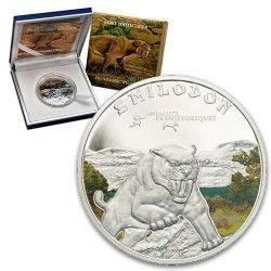 6159 Costa do Marfim 1 000 Francos 2011 Prata Proof - Tigre dente-de-sabre