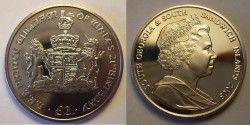 1149# RARA SOUTH GEORGIA e SANDWICH ISLANDS 2003 FC 2 Pound 39mm