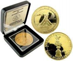 6429 ¤RARÍSSIMA¤ AMERICAN SAMOA 1 Dollar 1988 FC Bronze KL#1 com estojo e certificado!