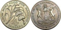 1793 ¤RARISSIMA¤ ANTIGUA $4 1970 Veja descrição!