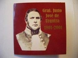 2270 ¤RARO¤ BLISTER ARGENTINA 1 Peso 2001 Bimetalica comemorativa  Gal. Urquiza BORDO LISO!