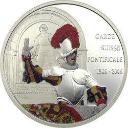 2981 # CONGO 10 Francos 2006 Prata Proof Ø45mm Comemorativa dos 500 anos da guarda suiça do vaticano
