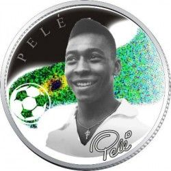 2988 ¤RARIDADE¤ ARMENIA 2008 PRATA PROOF Ø 38mm Comemorativa Pelé