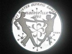 2991# LAOS 50 Kip 1989 PRATA PROOF Ø38 VARIEDADE RARA KM# 35.2