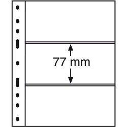 Folhas OPTIMA para Cédulas com fundo PRETO 180x77mm. Pacote com 10 unidades