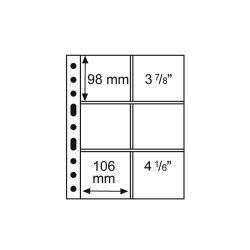 Folha sistema GRANDE com 6 compartimentos de 106x98mm com fundo transparente