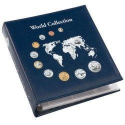 Álbum para moedas NUMIS World Collection com 5 folhas (Capacidade para 143 moedas) Sem estojo.
