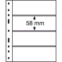 Folhas OPTIMA para Cédulas e Bilhetes com fundo PRETO 180x58mm. Pacote com 10 unidades