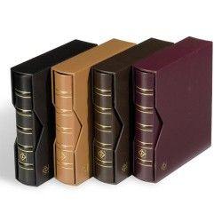 Álbum para moedas ou cédulas OPTIMA Classic em couro legítimo com estojo protetor