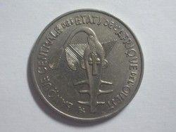 3521 ¤ESCASSA¤ AFRICA OCIDENTAL 100 Francos 1976 Ø26mm