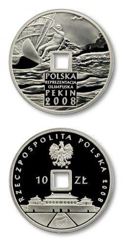 3543# POLONIA 10 Zloty 2008 PRATA PROOF Comemorativa Jogos olimpicos de Beijing (China)