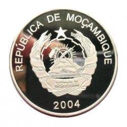 4003 ¤RARISSIMA¤ MOÇAMBIQUE 1000 Meticais 2004 PRATA PROOF Ø39mm Caravela COVILHA de 1498