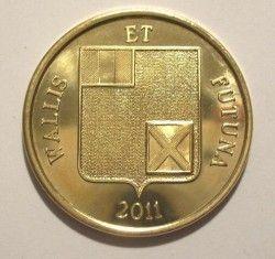 5311 ¤RARA¤ WALLIS E FUTUNA 100 Francs 2011 Ø31mm TIRAGEM RARA!