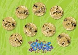 5724 # SET AUSTRALIA 9 x 1 Dollar 2010 FC Ø31mm especial insetos