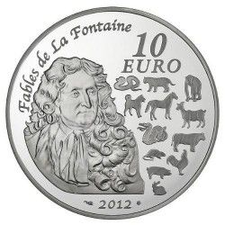 5755 # FRANÇA 10 Euros 2012 Prata FC Ø37mm ANO DO DRAGÃO 2012