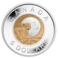 5875 # CANADA $5 2011 Proof Bi-metalica NIOBIO/PRATA Ø38mm Série Nativos Americanos
