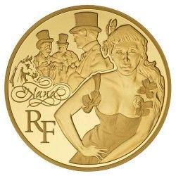 5906 # França 50 Euros 2011 Ouro Proof Ø22mm Nana - Emile Zola