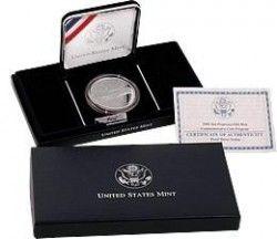5936 # EUA $1 2006 Prata Proof Ø38mm com Aguia - Comemorativa Old Mint San Francisco