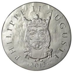 6012 # FRANÇA 10 Euros 2012 Prata FC Ø37mm Rei Augusto Filipe II