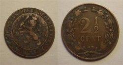 0603# HOLANDA 1884 2 1/2 Cent Catalogo R$ 43
