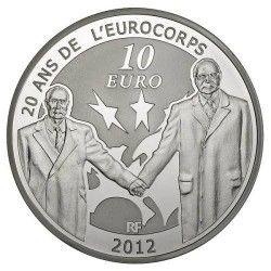 6056 # França 10 Euros 2012 Prata Proof Ø37mm tratado franco alemão
