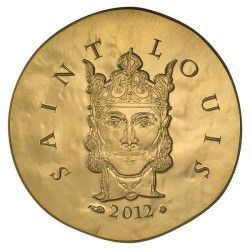 6062 # França 50 Euros 2012 Ouro FC Ø22mm Rei Luis IX