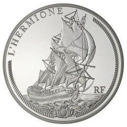 6066 # França 10 Euros 2012 Prata Proof Ø37mm Grandes Navios Franceses: L´Hermione
