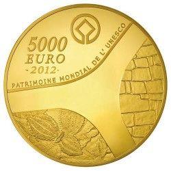 6073 # França 5000 Euros 2012 Ouro Proof Ø85mm Patrimonio da Unesco: Templo de Abu Simbel