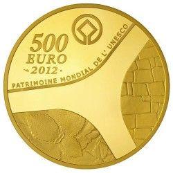 6074 # França 500 Euros 2012 Ouro Proof Ø50mm Patrimonio da Unesco: Templo de Abu Simbel