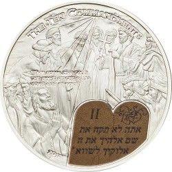 6204 PALAU 2$ 2013 PRATA PROOF Ø35mm Série Histórias Bíblicas: Os dez Mandamentos II
