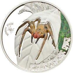 """6210 ILHAS COOK 2$ 2013 Prata Proof - Série """"Aranhas venenosas"""" II - Aranha Armadeira"""