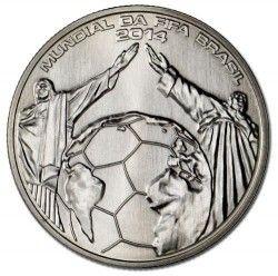 6234 Portugal 2,5 Euros 2014 Cupro Copa do Mundo 2014 Brasil