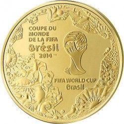 6242 França 5 Euros 2014 Ouro Proof  Copa do Mundo 2014 Brasil
