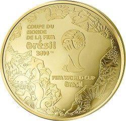 6245 *RARA* França 500 € 2014 Ouro Proof  Copa do Mundo 2014 Brasil APENAS 99 Exemplares no Mundo!!